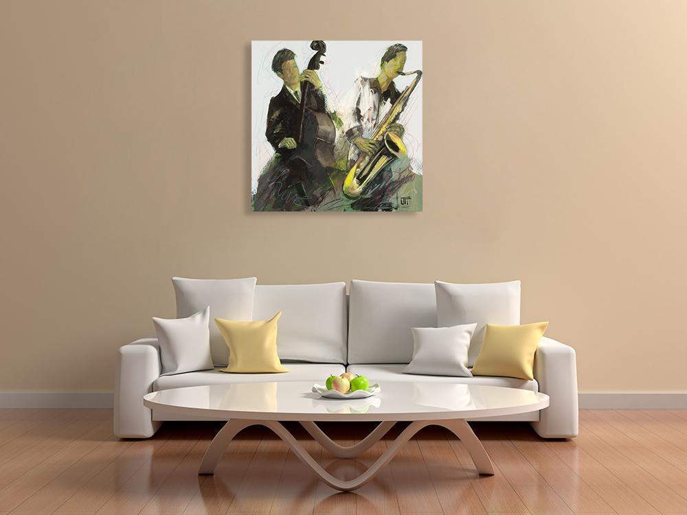 Figurative Music Canvas Wall Print