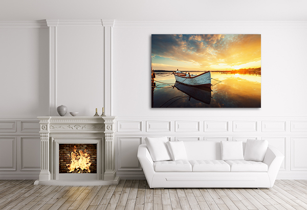 Boat Canvas Art Print on the wall