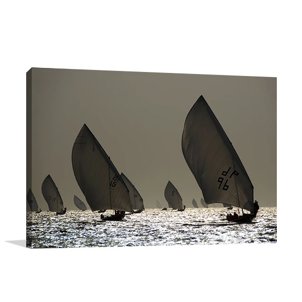 Boat Sailing Print on Canvas