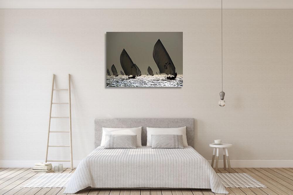 Grey Canvas Wall Art Print