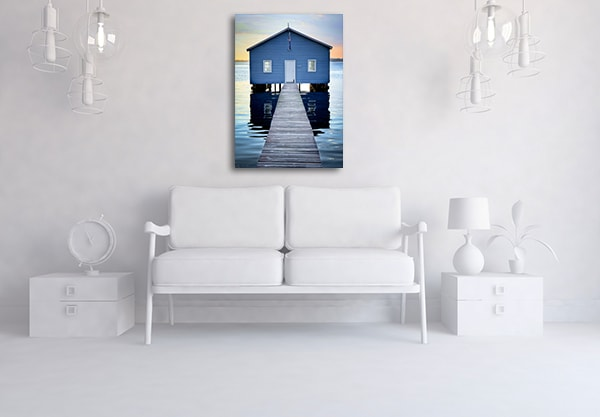 Boat Shed House Up-close Perth Canvas Prints