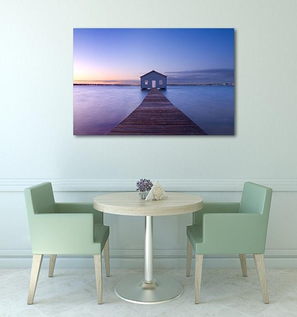 Boathouse At Dawn In Perth Artwork