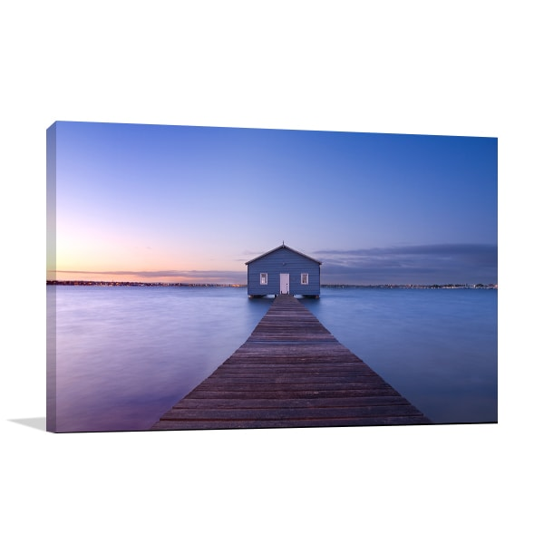 Boathouse At Dawn In Perth Canvas Prints