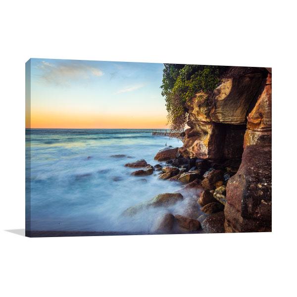 Bondi Beach Art Print Sunset And Waves Canvas Prints