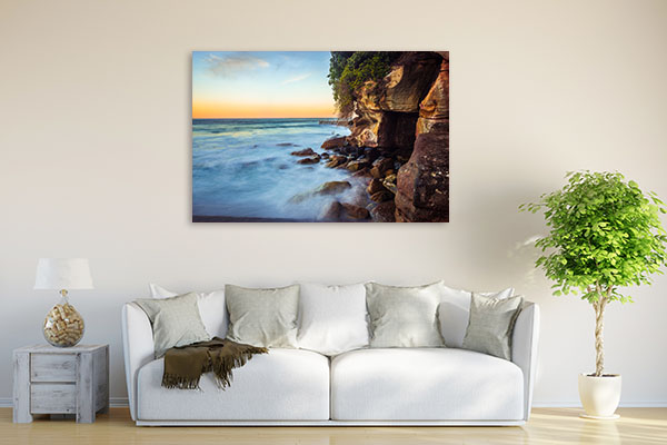 Bondi Beach Art Print Sunset And Waves Canvas Art