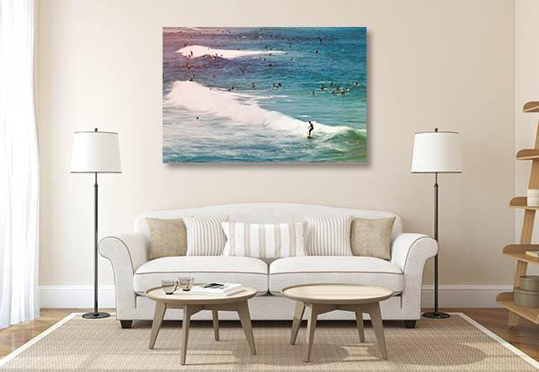 Bondi Beach Art Print Sydney Surfers Canvas Art