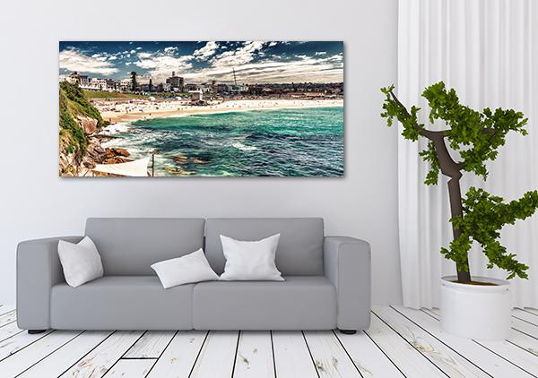 Bondi Beach Canvas Art Print on the wall