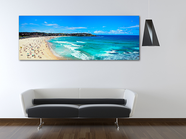 Bondi Beach Panorama Wall Art Print on the wall