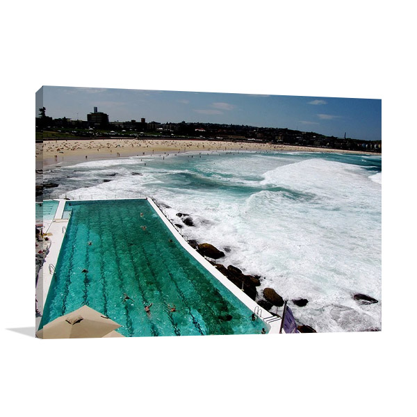 Australia Bondi Beach Wall Canvas Print