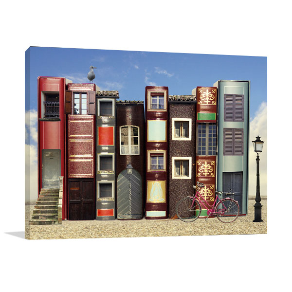 Books and Windows Canvas Prints