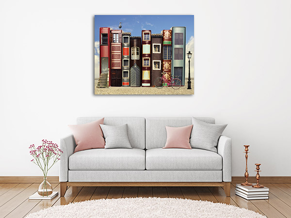 Books and Windows Prints Canvas