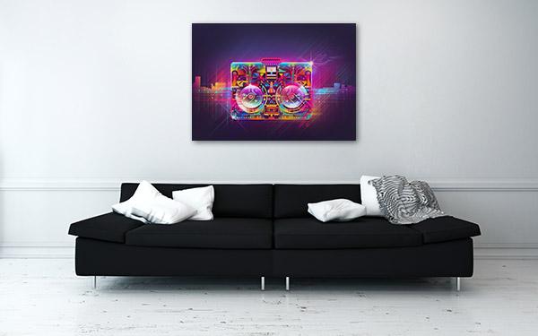 Boombox Urban Light Canvas Prints