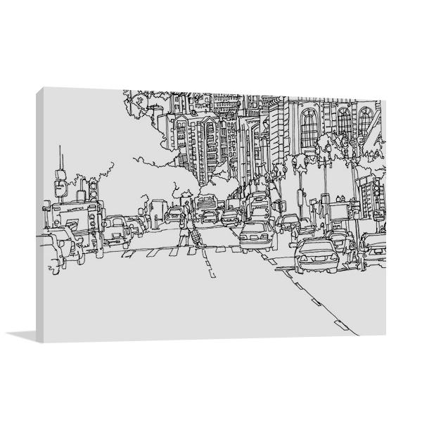 Boston City Line Canvas Art Print