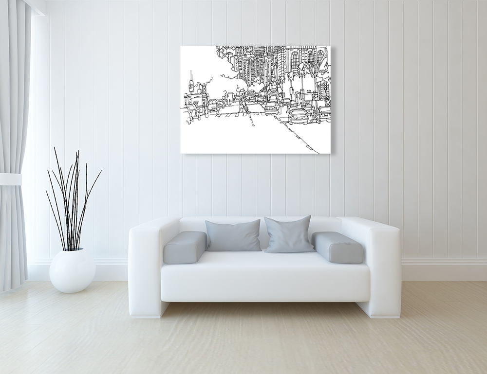 Illustration Canvas Art Print