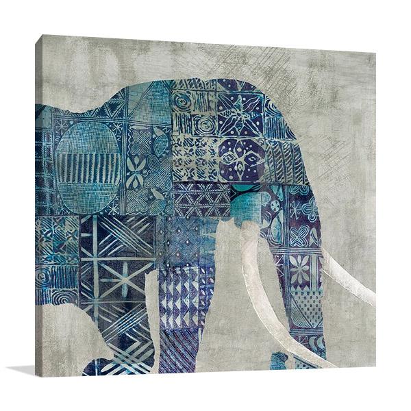Botswana Patterns Wall Art Print on Canvas