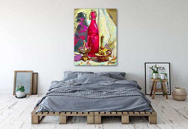 Bottle In Still Life Canvas Art
