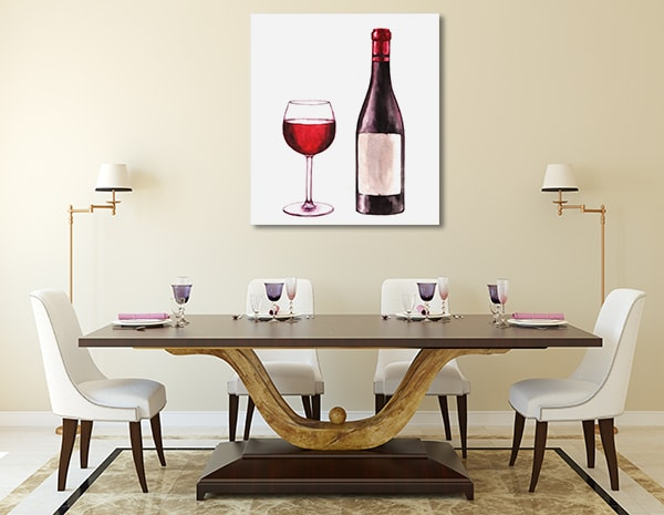 Bottled Red Wine Canvas Prints