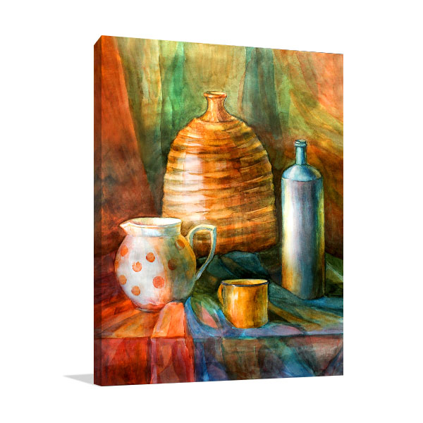 Bottles And Pitcher Prints Canvas