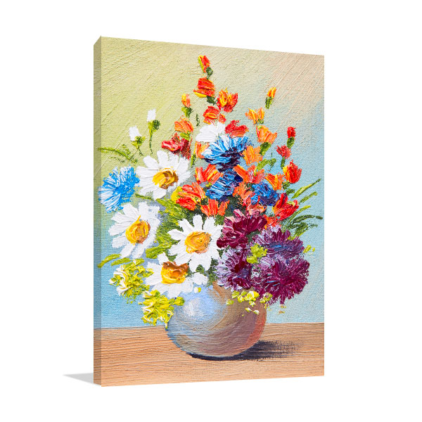 Bouquet of Flowers In A Vase Canvas Art Prints