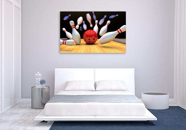 Bowling Strike Canvas Prints