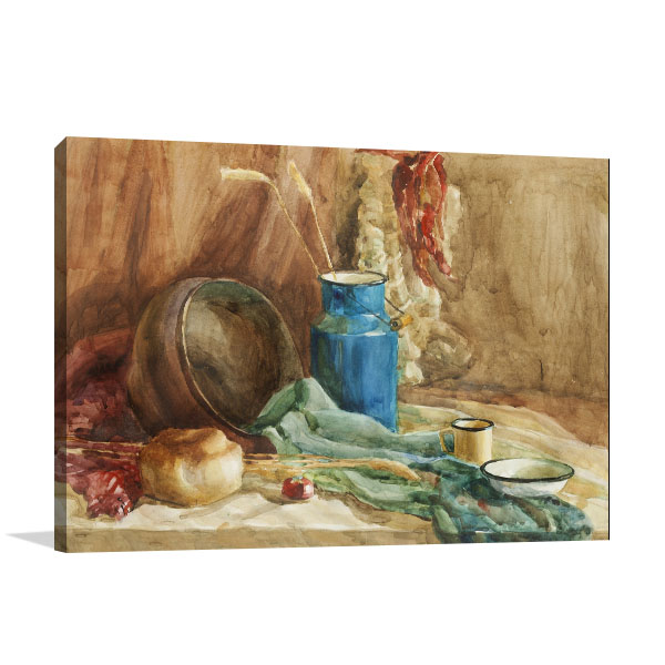 Bread And Milk Can Canvas Prints