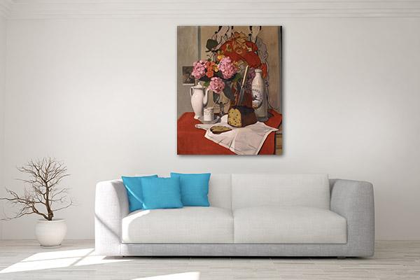 Bread With Tea Canvas Art Prints