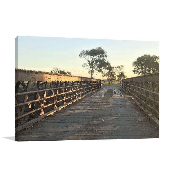 Bridge at Sunset Rockhampton Wall Art