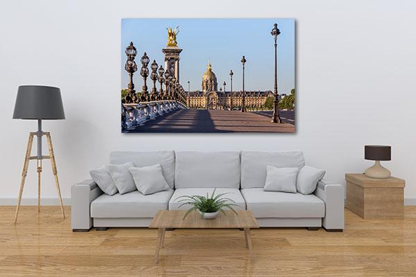 Bridge in Paris Print Artwork