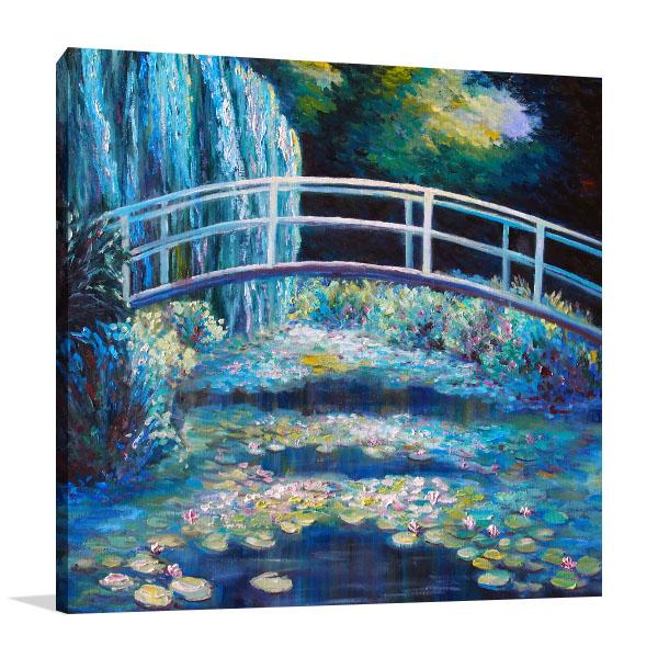 Bridge On Pond Print Artwork