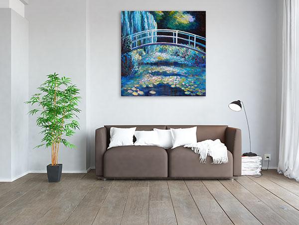 Bridge On Pond Artwork