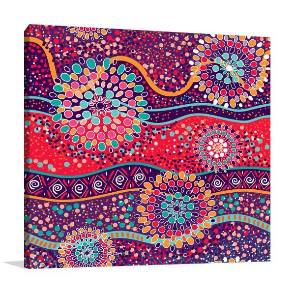 Bright Aboriginal Pattern Wall Art
