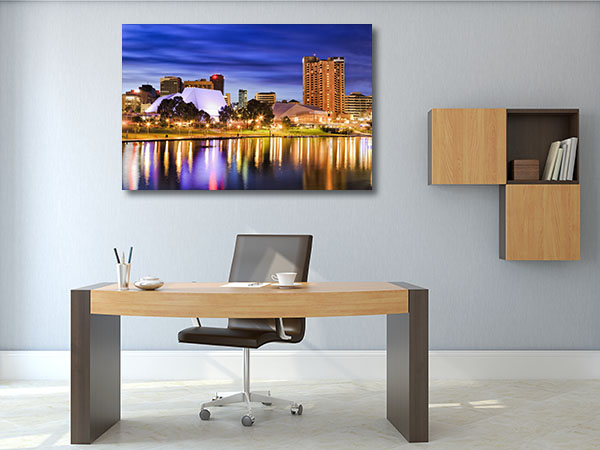 Bright City Lights Adelaide Canvas Prints