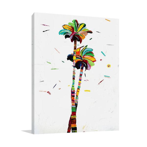 Bright Coconut Palm Canvas Print | Altamura