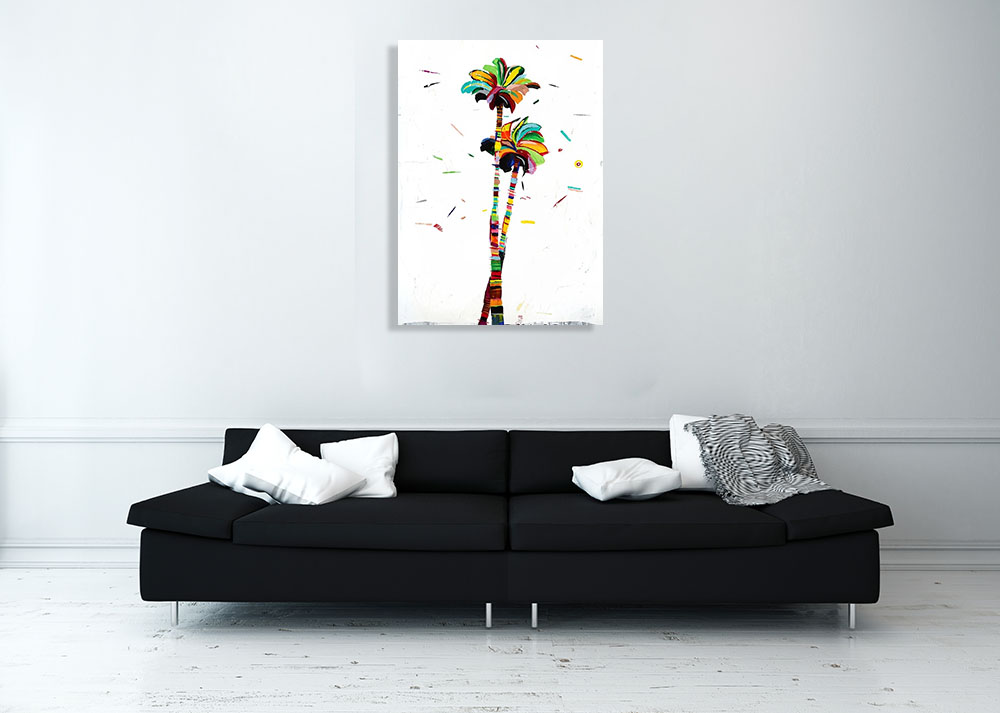 Whimsical Canvas Print Palm Tree