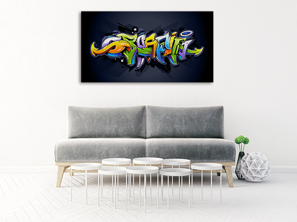 Bright Graffiti Lettering Artwork