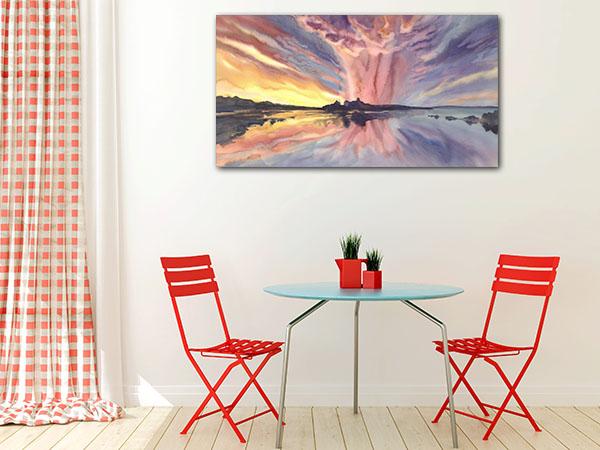 Bright Sunset Canvas Prints