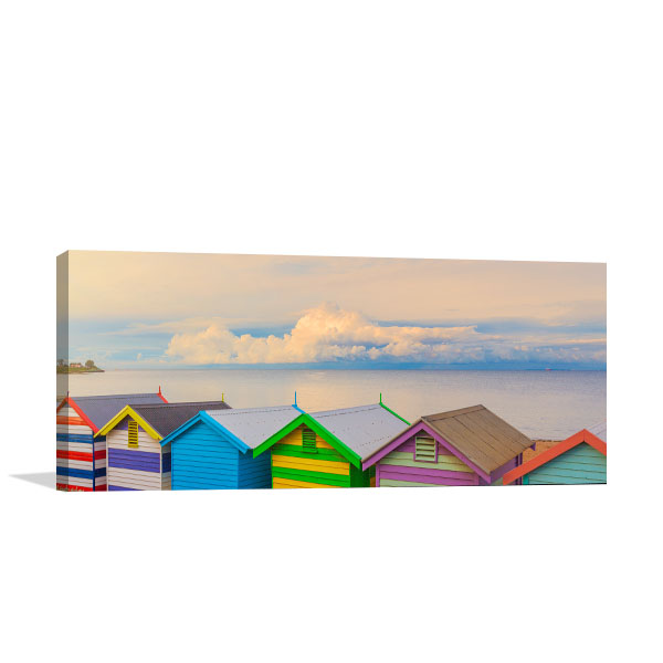 Brighton Art Wall Print Ocean View at Sunrise