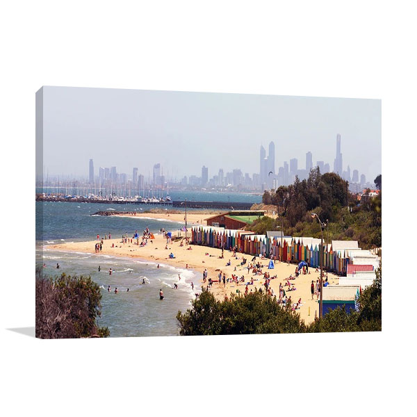 Brighton Beach Australia Print on Canvas