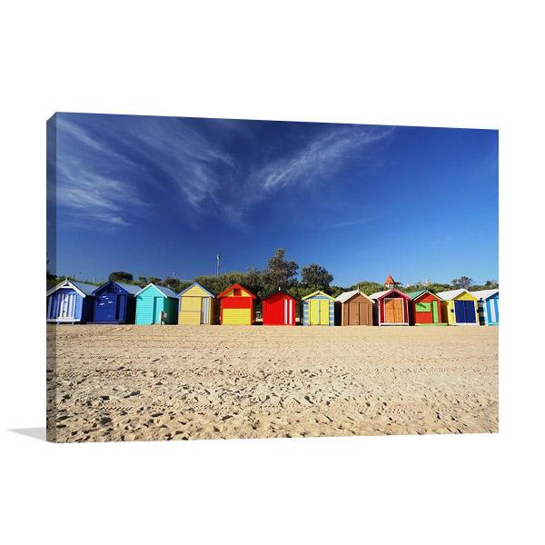 Melbourne Brighton Beach Canvas Print
