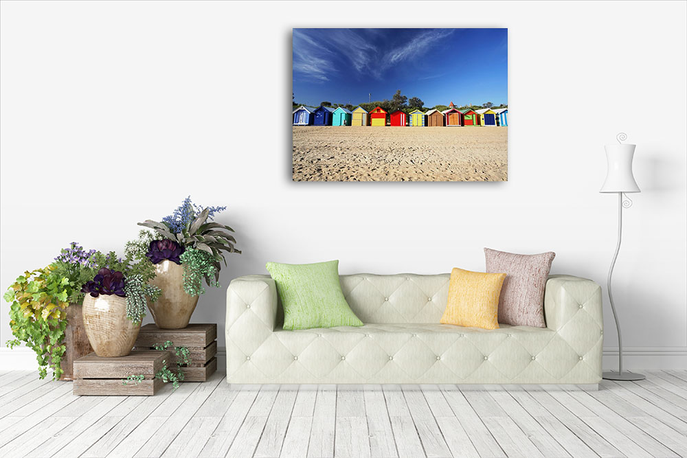 Melbourne Victoria Beach Print Canvas