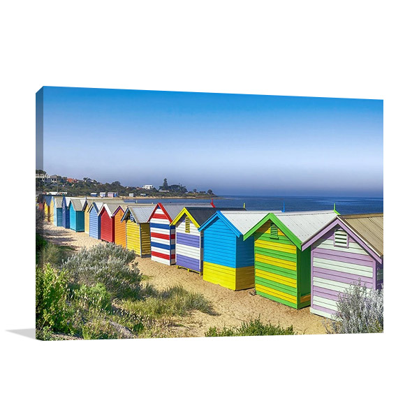Australia Melbourne Brighton Beach Print