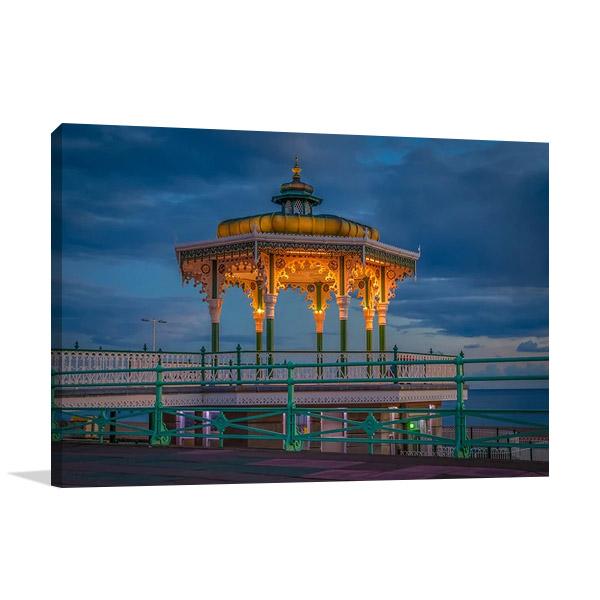 Australia Brighton Blue Sky Print Canvas