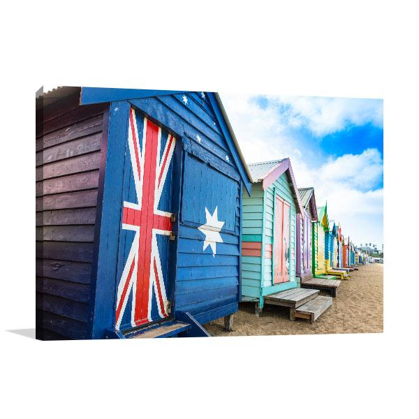 Brighton Wall Art Print Beach Huts