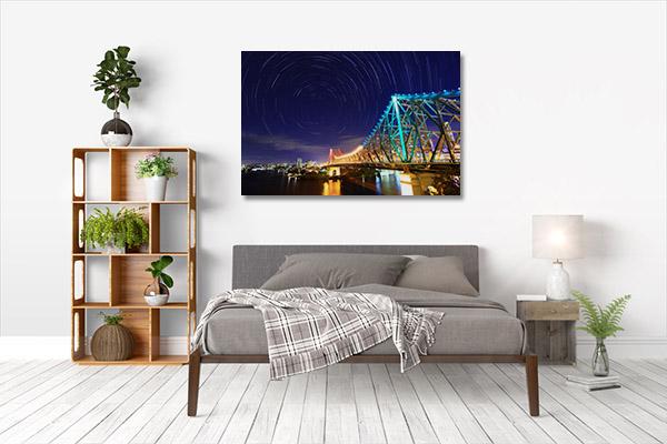 Brisbane Art Print Canvas Story Bridge Wall Art
