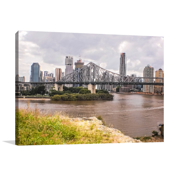 Brisbane Art Print History Bridge Canvas Art Prints