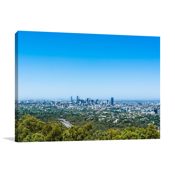 Brisbane Art Print Mt Coot-tha Lookout Photo Wall Arts