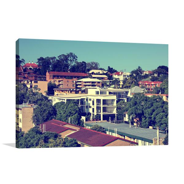 Brisbane Art Print Toowong Suburban
