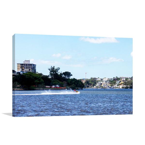 Brisbane Art Print Water Craft