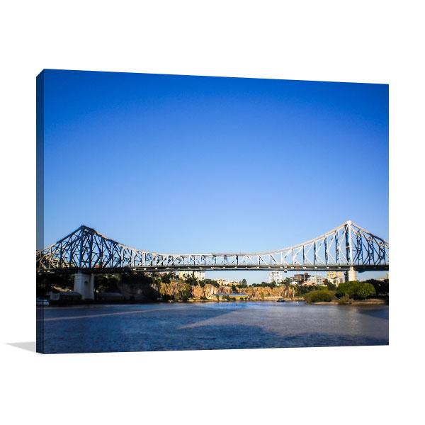 Brisbane Canvas Art Print History Bridge