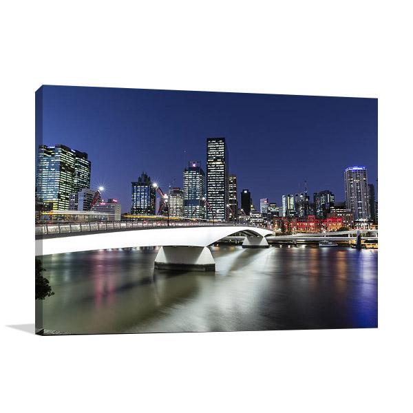 Brisbane City at Twilight Print on Canvas